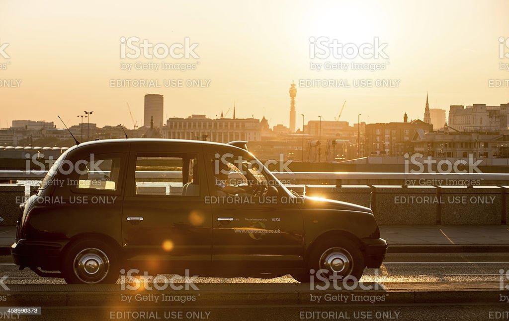 Sunset Cab Ride stock photo