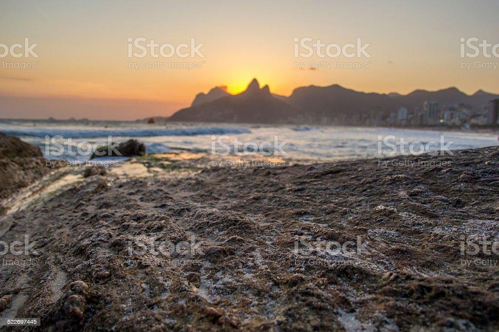 Sunset chilling. stock photo