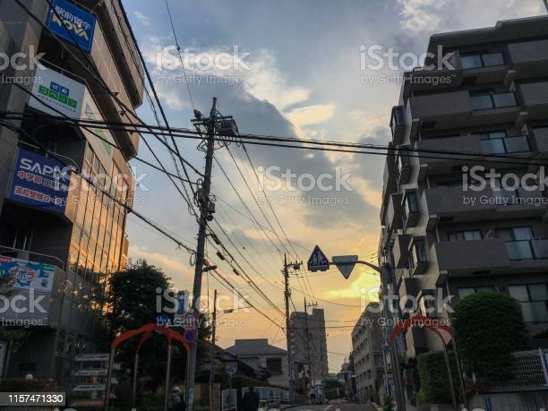 Photo of Sunset city in tokyo japan