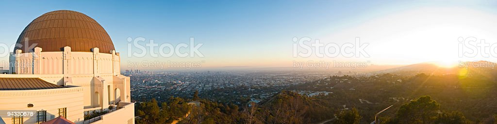 Sunset city, Los Angeles stock photo