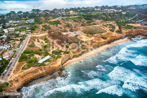 Sunset Cliffs along the coast of Point Loma in the city of San Diego, California.