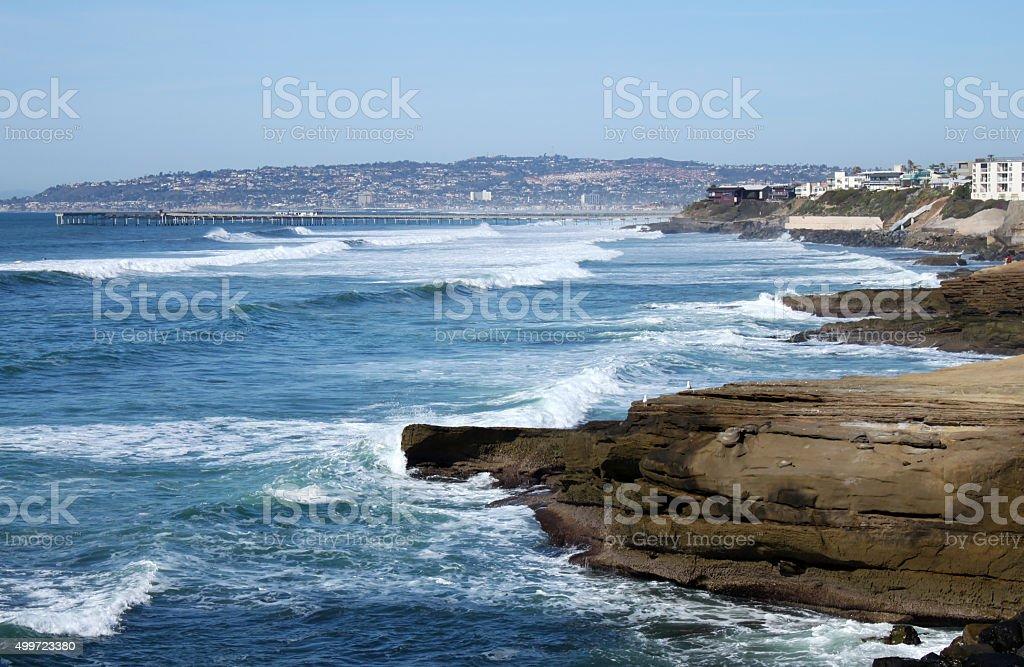 Sunset Cliffs Ocean Beach California stock photo