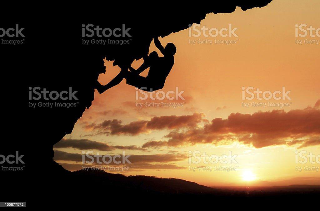sunset climber stock photo