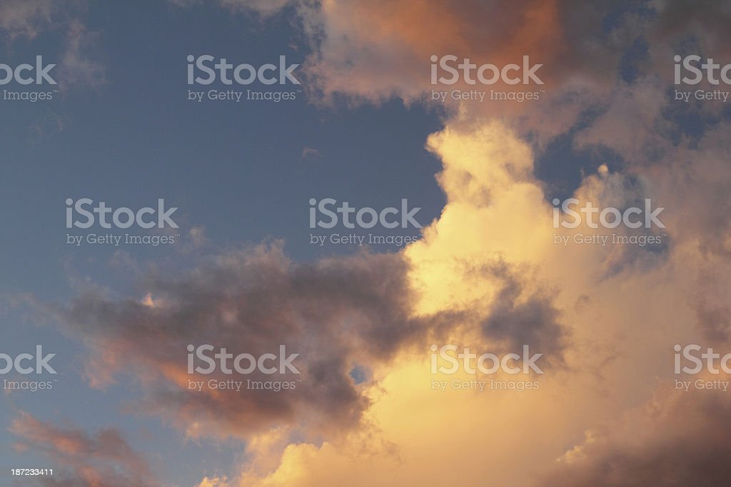 Sunset Clouds Dramatic Sky royalty-free stock photo