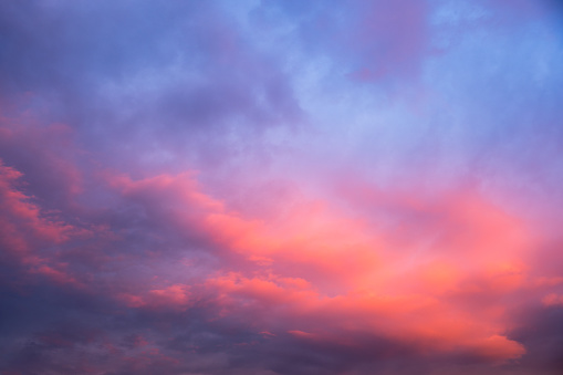 Colorful sunset sky.