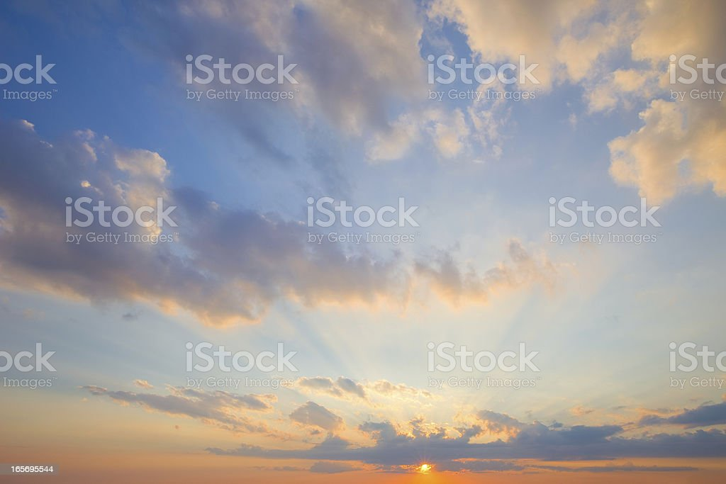 Sunset Cloudscape, Clouds royalty-free stock photo