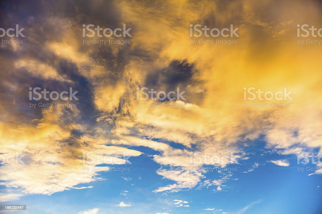 Sunset cloudscape royalty-free stock photo