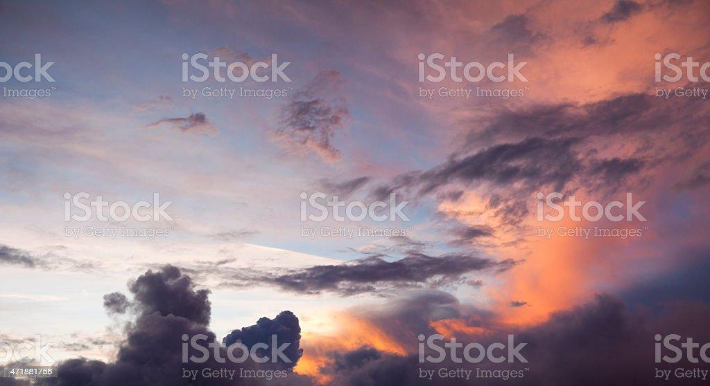 Sunset Cloudscape Sky Background stock photo