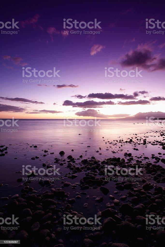 Sunset Coast royalty-free stock photo