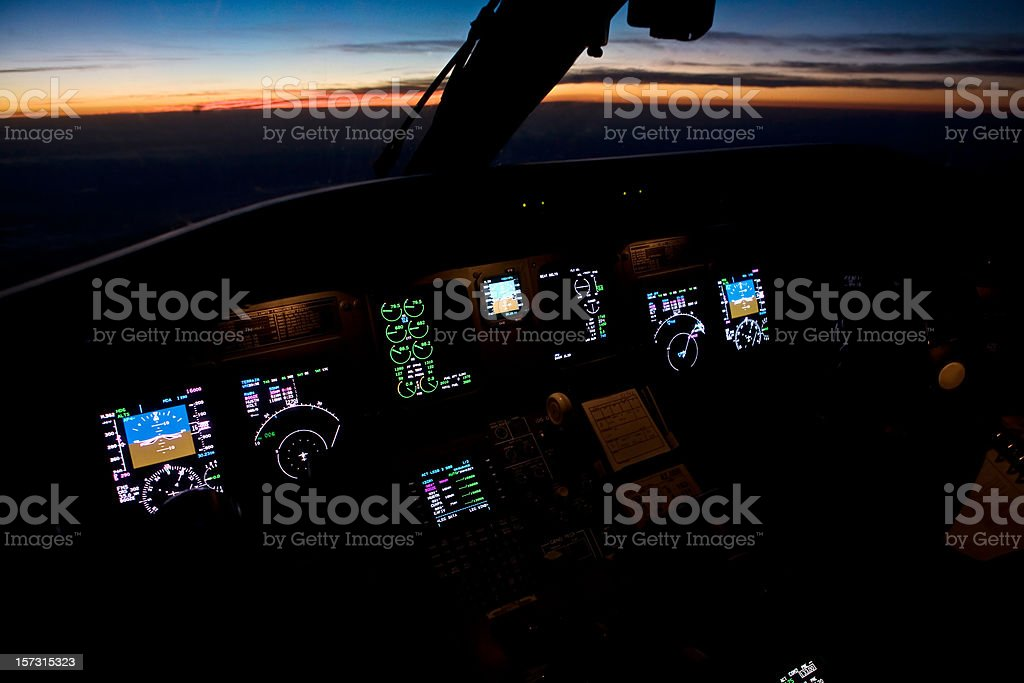 Sunset Cockpit royalty-free stock photo