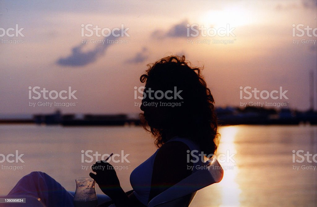 Sunset Cocktail royalty-free stock photo