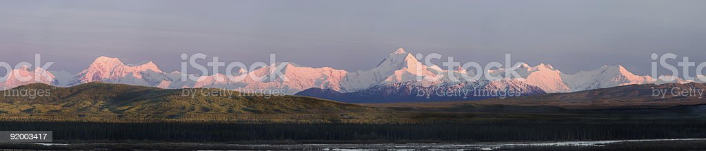 Sunset colors on Mt Hess and Debra royalty-free stock photo