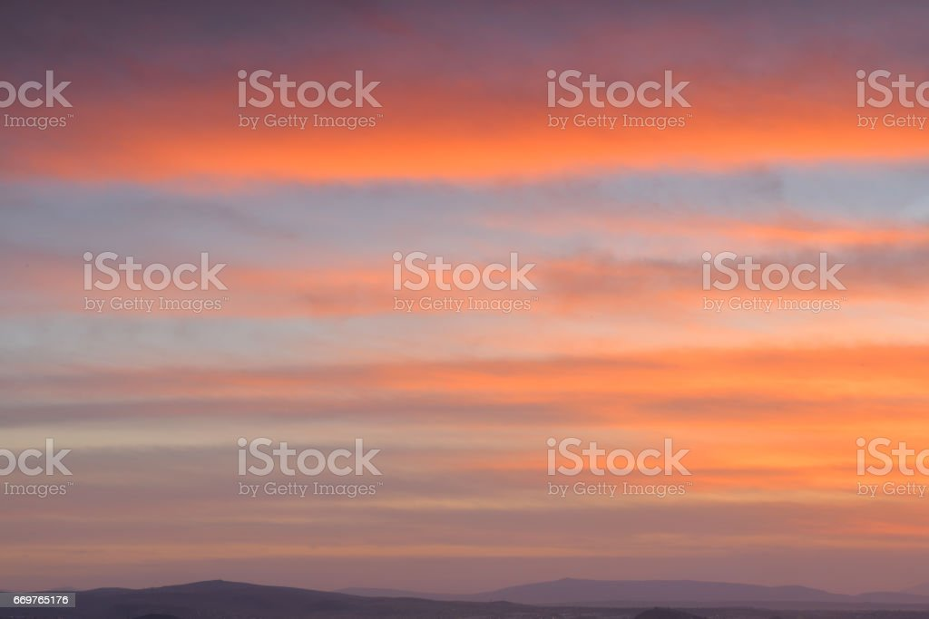 Sunset Colors stock photo
