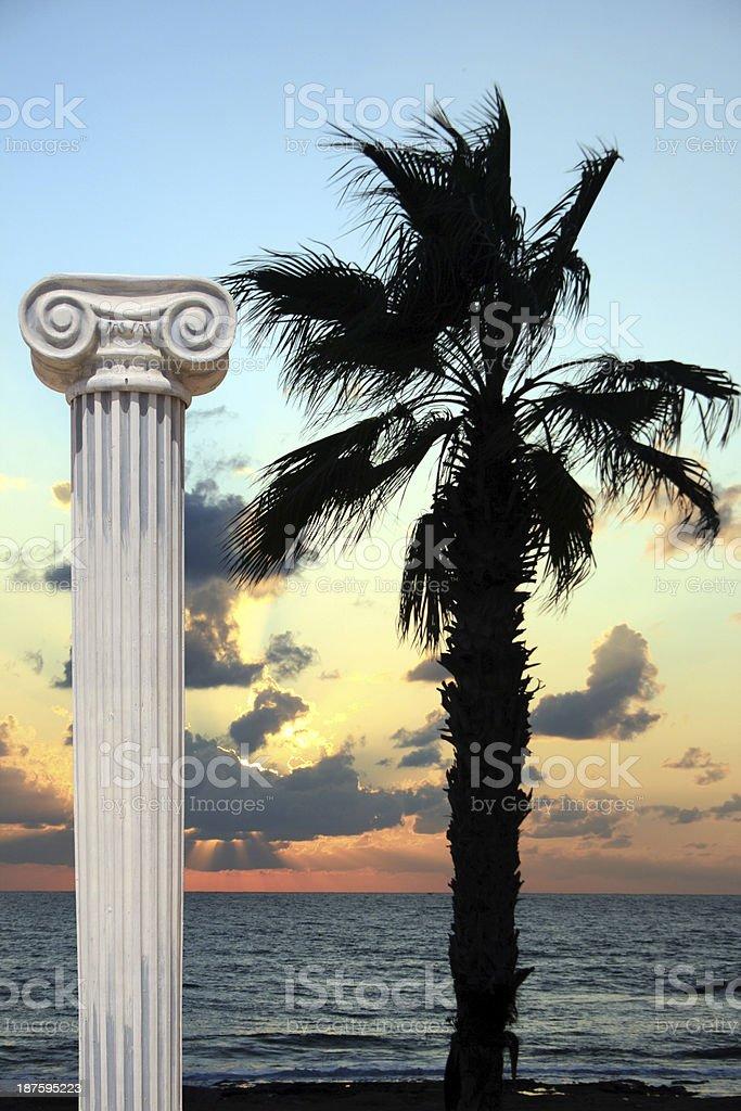 Sunset column royalty-free stock photo