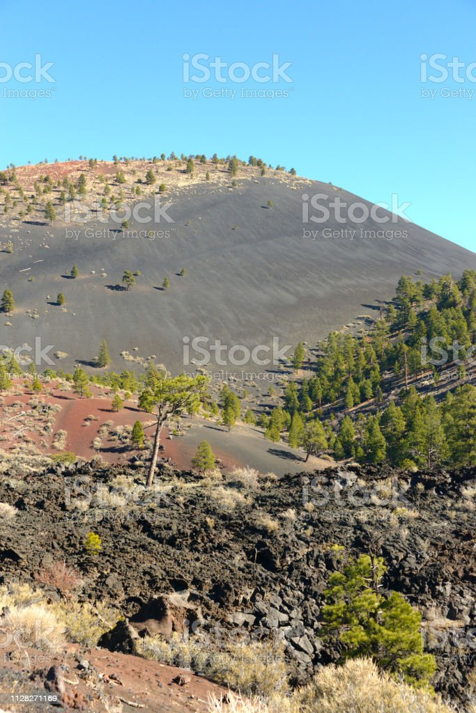 Sunset Crater Volcano National Monument View stock photo