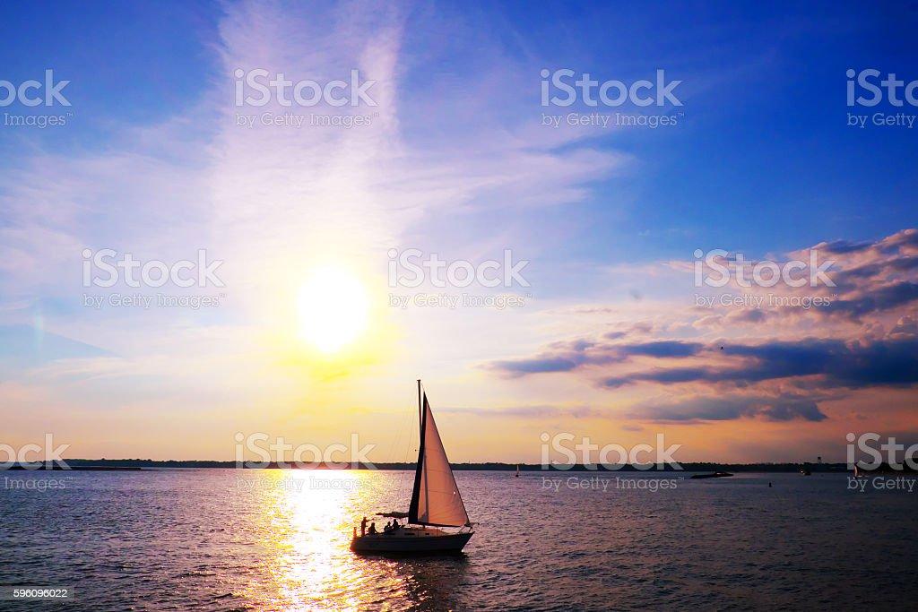 Sunset cruise royalty-free stock photo