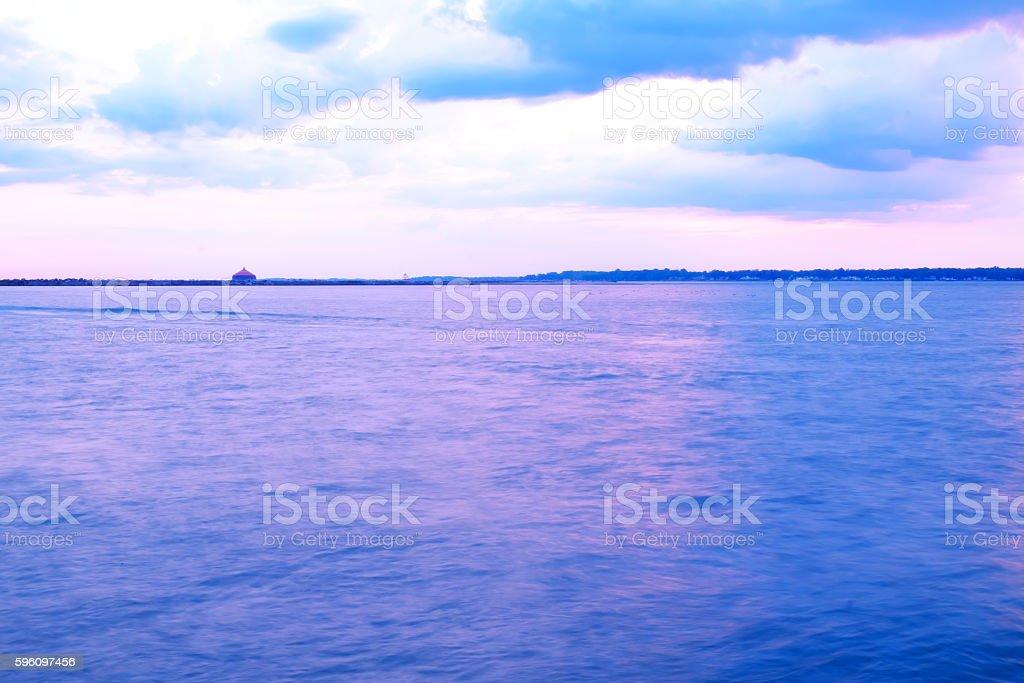 Bei Sonnenuntergang cruise Lizenzfreies stock-foto