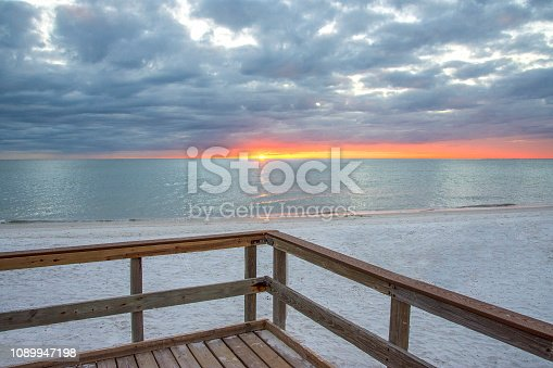 Fort Myers Beach, Florida sits on a little barrier island, about seven miles long, and has a fabulous beach, gradually sloping, and wide with a beautiful white sand beach. Gulf Coast States.