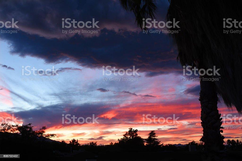 Sunset Desert Sky royalty-free stock photo