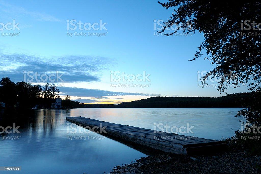 Sunset Dock royalty-free stock photo