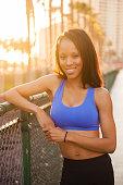 istock Sunset Downtown San Diego Women Running 619752440