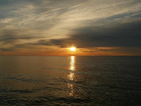 sunset dramatic seascape