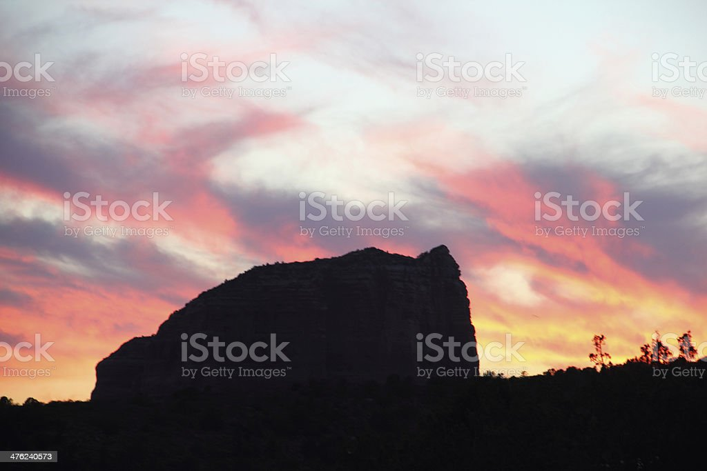 Sunset Dramatic Sky Courthouse Butte royalty-free stock photo