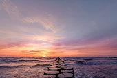 日没の東のバルト海
