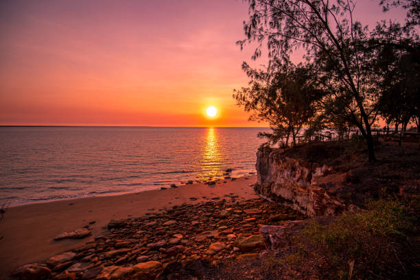 Sunset - East Point Reserve - Darwin stock photo