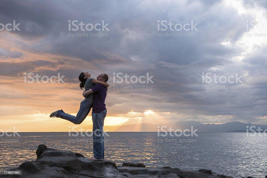 Sunset Embrace royalty-free stock photo