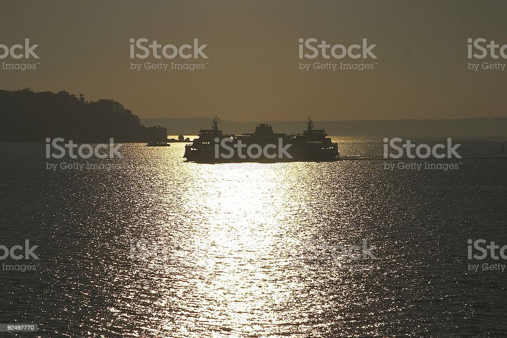 Sunset Ferry royalty-free stock photo