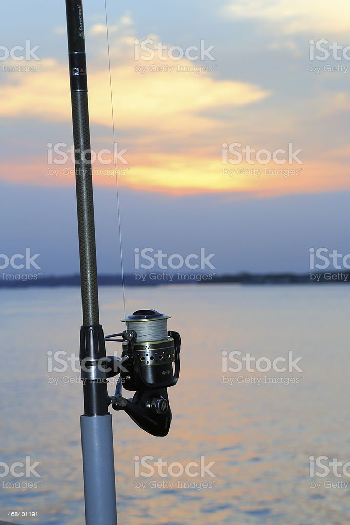 Sunset Fishing Rod 1 royalty-free stock photo