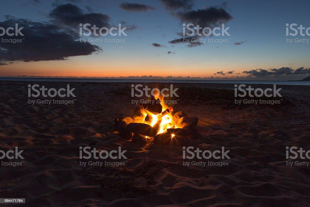 Sunset Flame stock photo