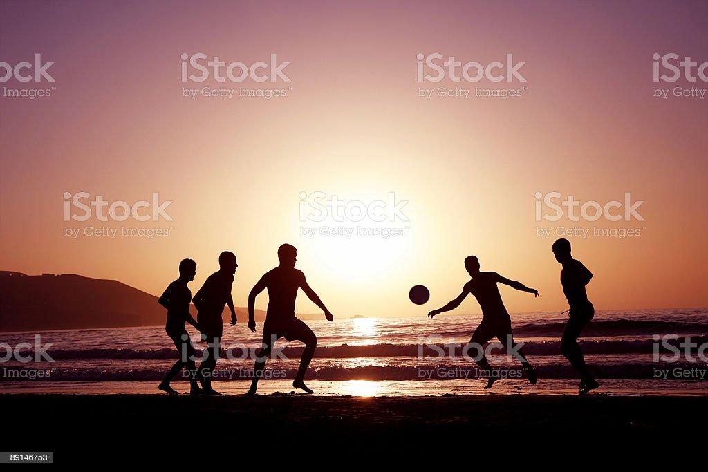 Sunset Football royalty-free stock photo
