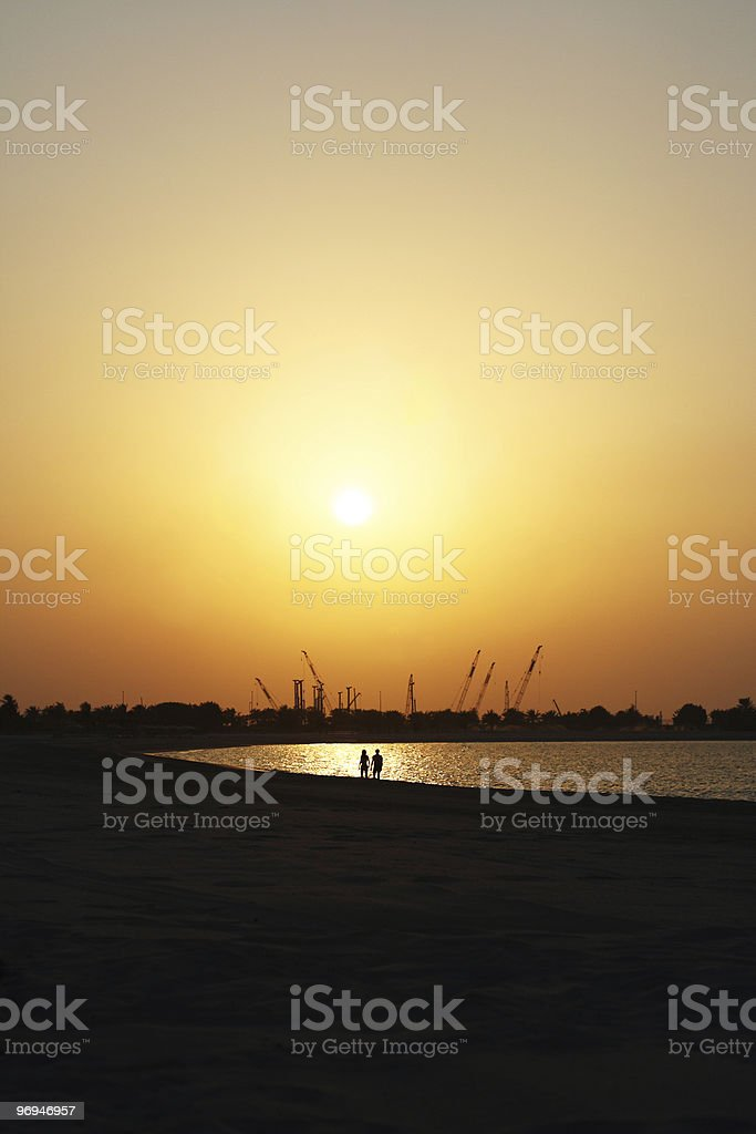 Sunset For Two royalty-free stock photo