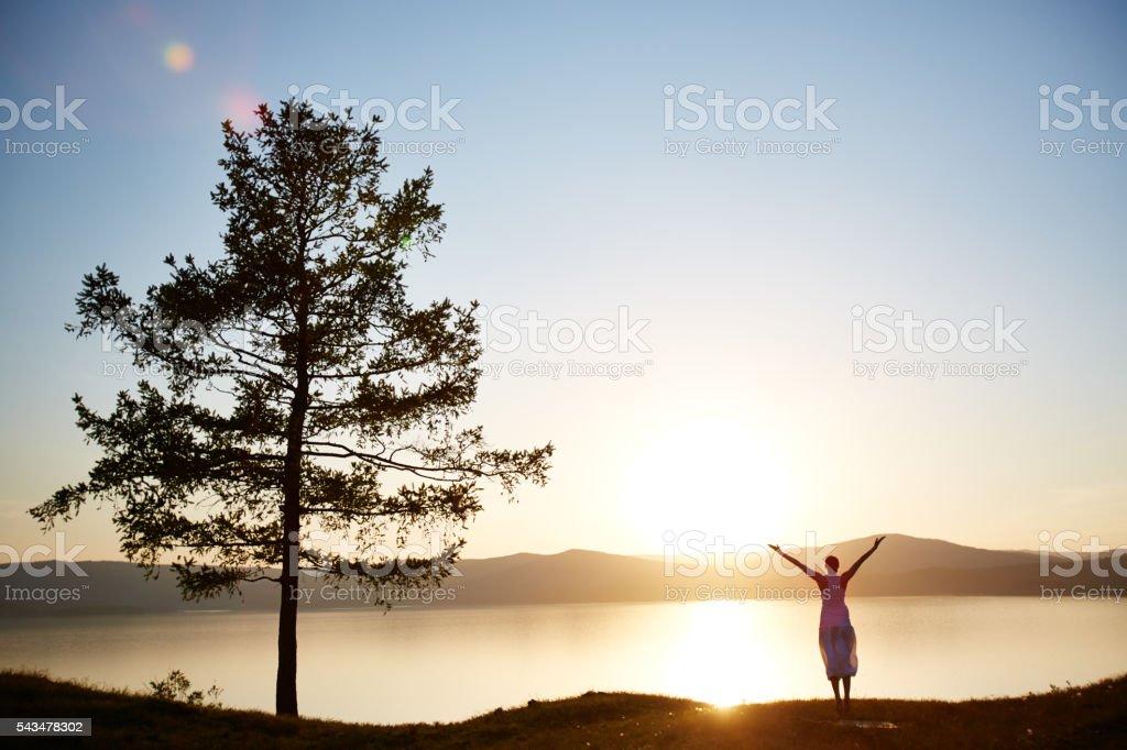 Sunset freedom stock photo