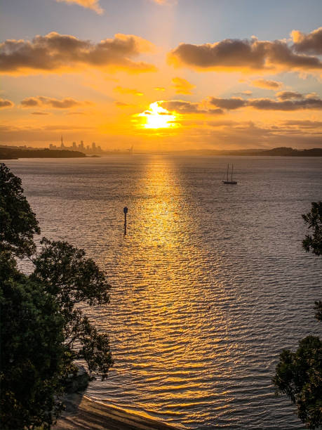Sunset from Achilles Point stock photo