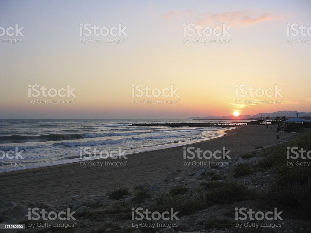 FT - Sunset from Agrigento (Italy) royalty-free stock photo