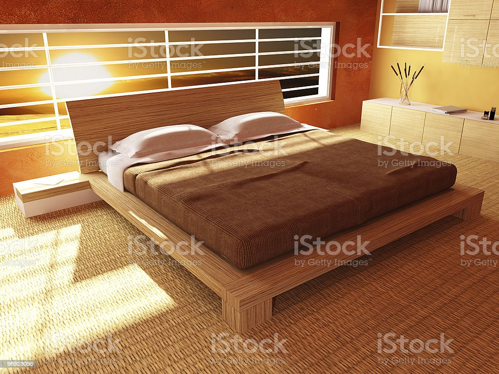 sunset from bedroom royalty-free stock photo
