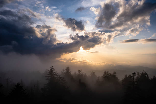 Sunset from Clingman's Dome stock photo