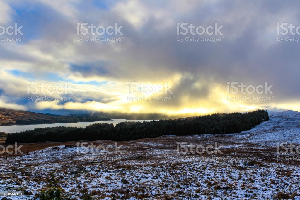Sunset from Fort William stock photo