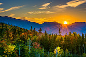 Sunset from  Kancamagus Pass, on the Kancamagus Highway in White