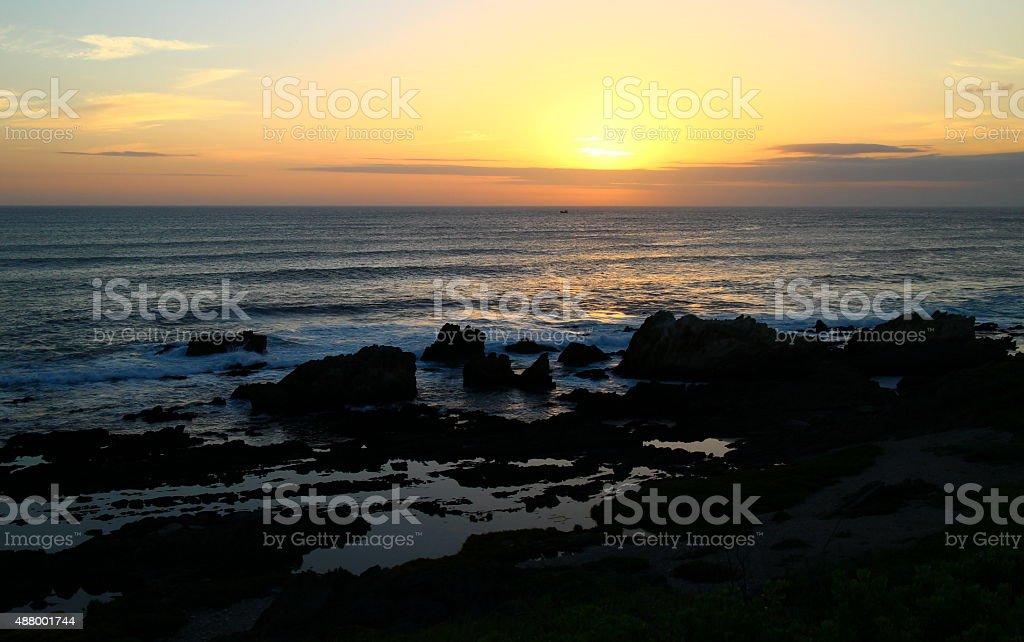 Sunset from Port Elizabeth, stock photo