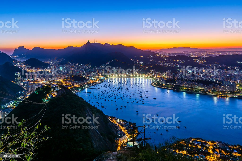 Sunset from Sugarloaf Mountain stock photo