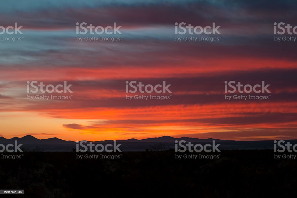 Sunset from the Continental Divide Trail in southern New Mexico. royalty-free stock photo