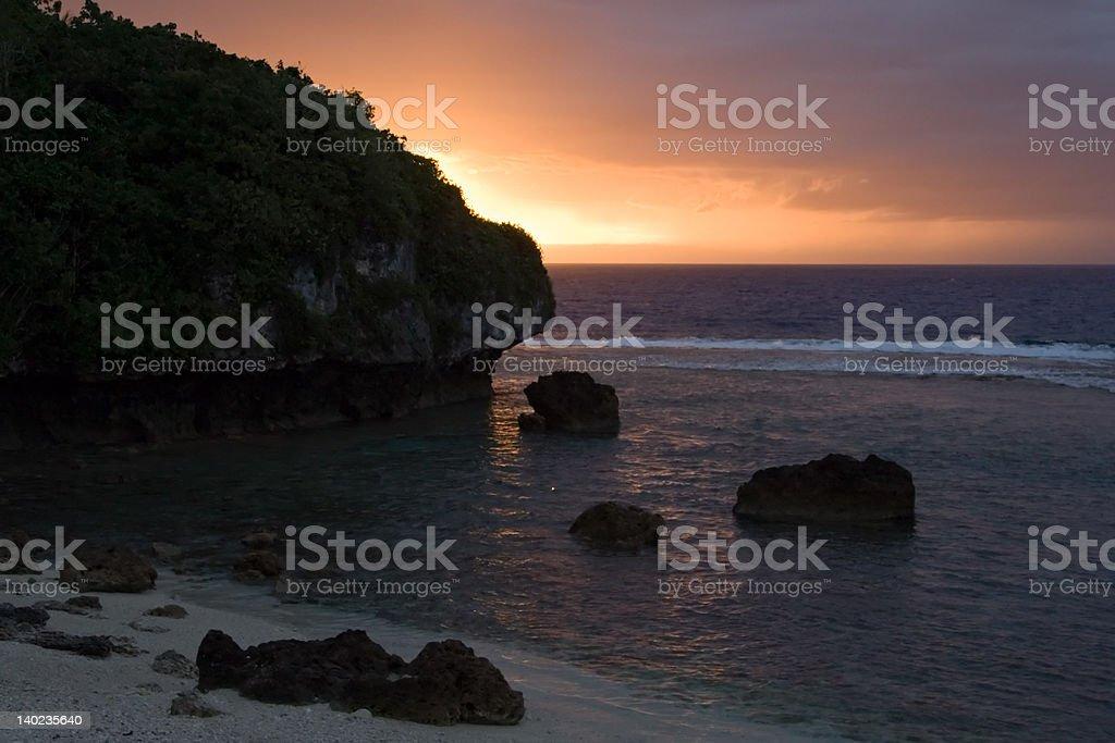 Sunset from Washaway stock photo