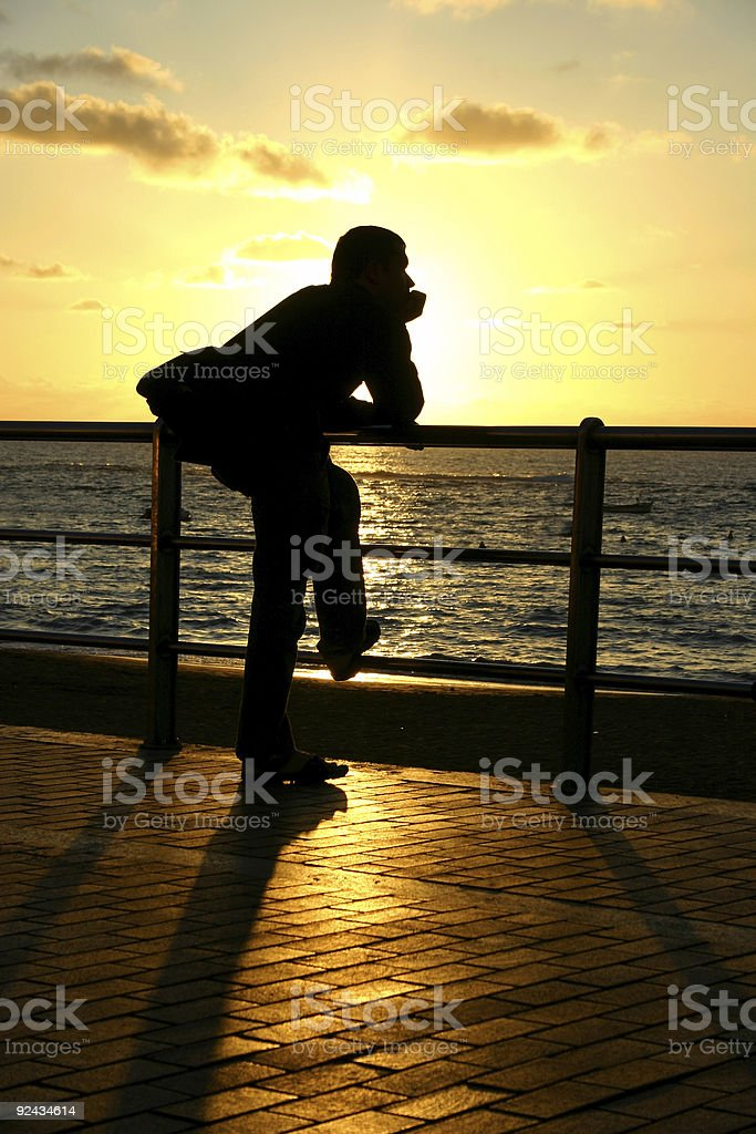 Sunset Gazing stock photo