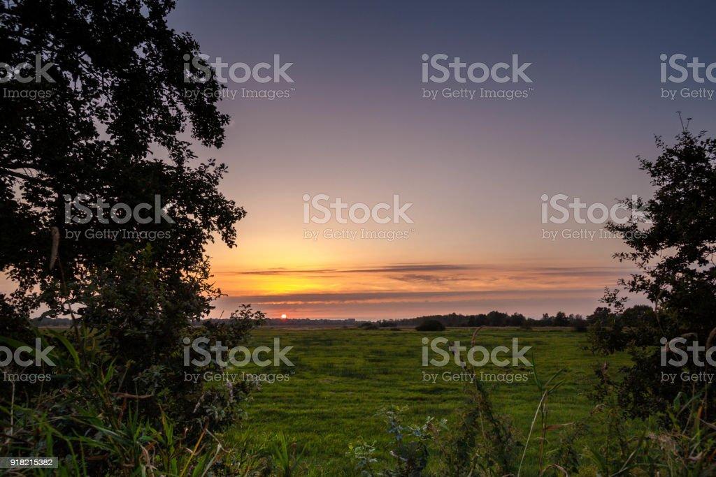 Sunset, Germany stock photo