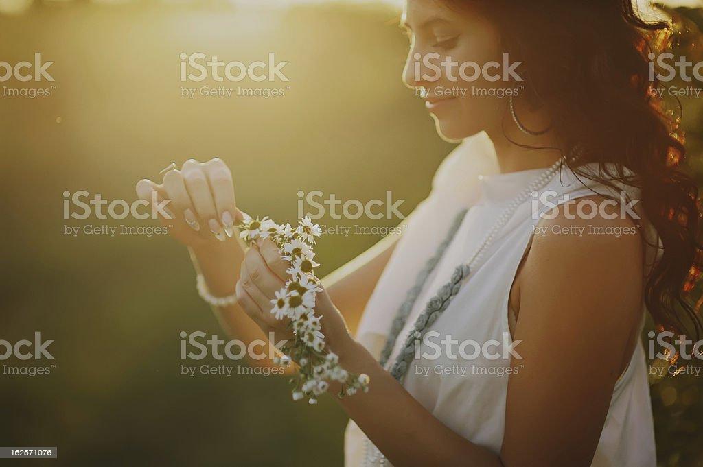sunset girl royalty-free stock photo