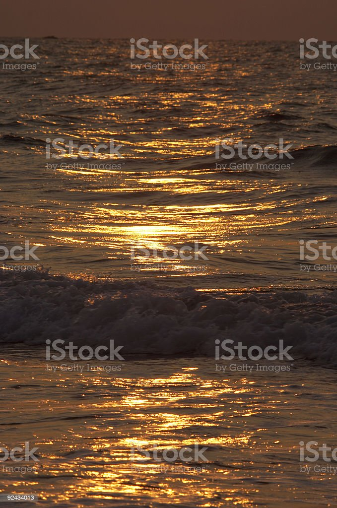 Sunset Glitter in the Ocean royalty-free stock photo